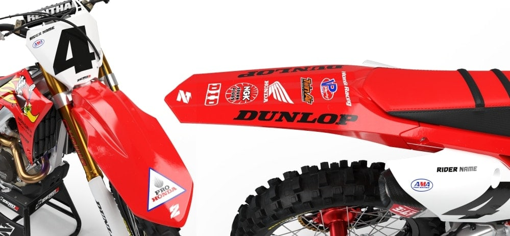 HONDA WOODY RETRO GRAPHICS KIT | ZERO9 MX GRAPHICS