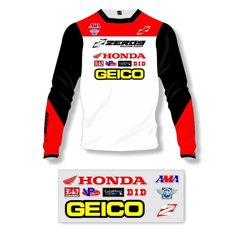 honda motocross jersey
